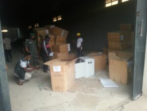 Imo State government claims it has recovered public property in Rochas' private warehouse
