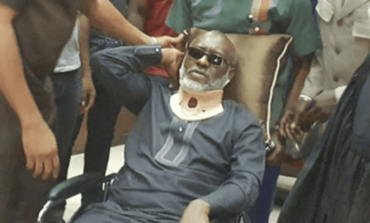 Former PDP publicity secretary Olisa Metuh arrives in the UK for medical treatment