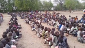 Beggars besiege Jigawa State governor in defiance of Covid-19 protocols demanding handouts