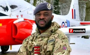 Nigerian Joel Adams becomes first ever non-British officer to be commissioned into RAF as aero systems engineer