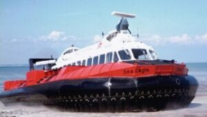 UK company conducts trial run of one its hovercrafts in Lagos to help address mass transit crisis