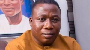 Sunday Igboho warns federal government to unfreeze his bank accounts of face widespread protests