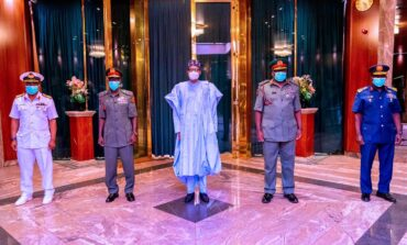 Buhari gives new service chiefs five weeks to end current spate of insecurity ravaging Nigeria
