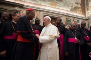 Pope Francis warns Nigerian Christians to eschew tribalism saying it departs from the teachings of Christ