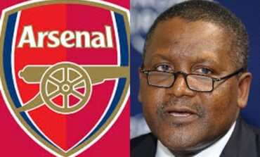 Dangote's bid to buy Arsenal suffers setback as Kroenke says he will not listen to any offers