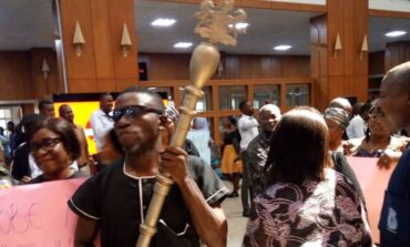 Legislative aides barricade Gbajabiamila in his office over the non-payment of their allowances