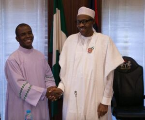 Father Mbaka calls on Buhari to resign because God in angry with him over Nigeria's insecurity