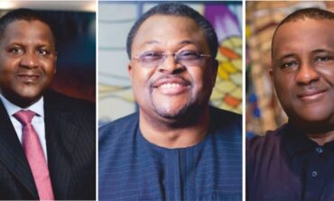 Nigeria's three wealthiest men see their net worth rose to $22.5bn during the course of 2021