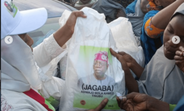 Tinubu says he had nothing to do with distribution of rice bags bearing his name and image