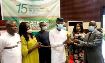 Governor Ugwuanyi of Enugu State bestowed with Covid-19 Response Champion award