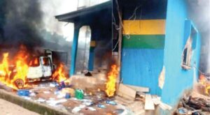 Violence continues to spread across southeast with police station burnt down in Enugu State