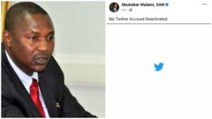 Attorney-general Malami technically flouts Twitter ban by logging on to delete his account
