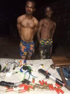 Imo State Police Command arrests two ESN members after a gun battle at their hideout