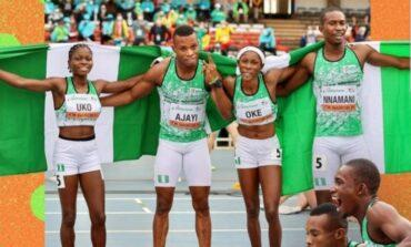 Team Nigeria end U20 athletics championship in third place with four gold and three bronze medals