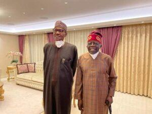 Buhari returns to Nigeria after three weeks in the UK which he rounded off with visit to Tinubu