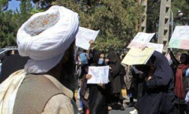 Afghan women defy the Taliban and demonstrate against its misogynistic policies in Kabul
