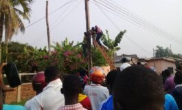 Four church members electrocuted after pole snapped while they were changing their flag